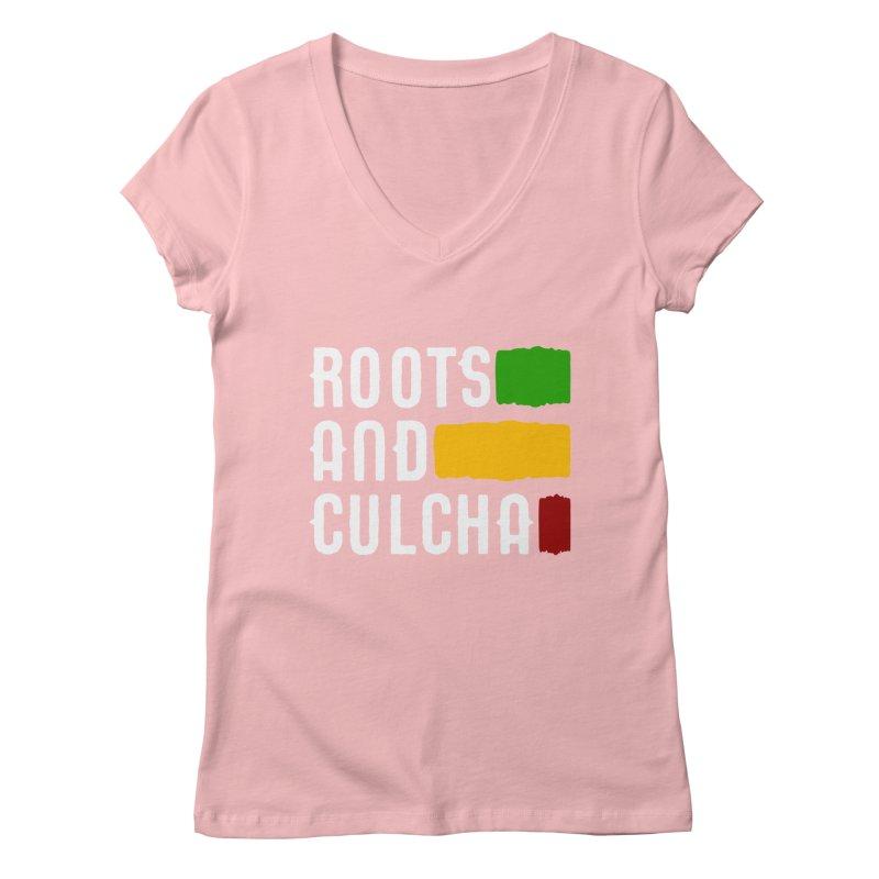 Roots and Culcha (Light) Women's V-Neck by Rasta University Shop