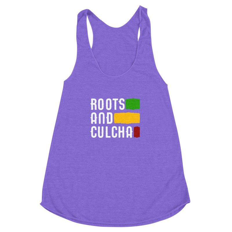 Roots and Culcha (Light) Women's Racerback Triblend Tank by Rasta University Shop