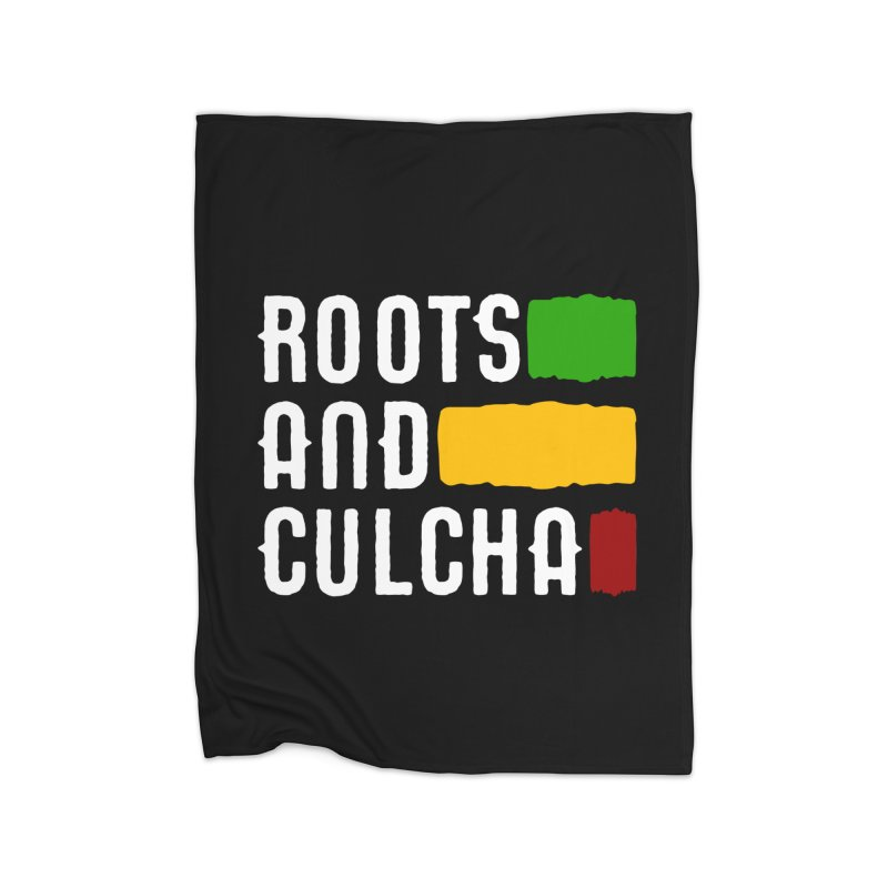 Roots and Culcha (Light) Home Blanket by Rasta University Shop