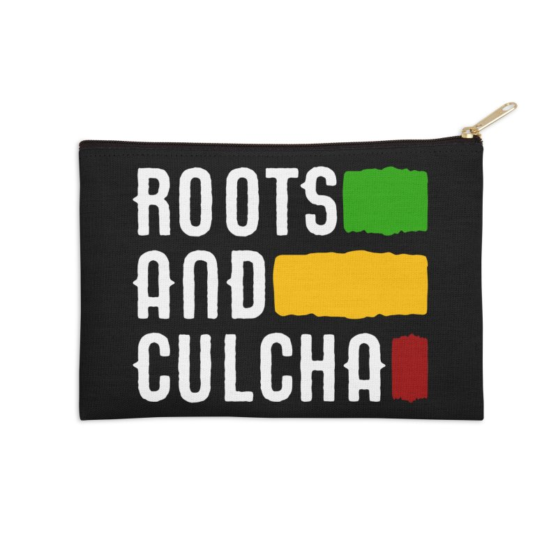 Roots and Culcha (Light) Accessories Zip Pouch by Rasta University Shop