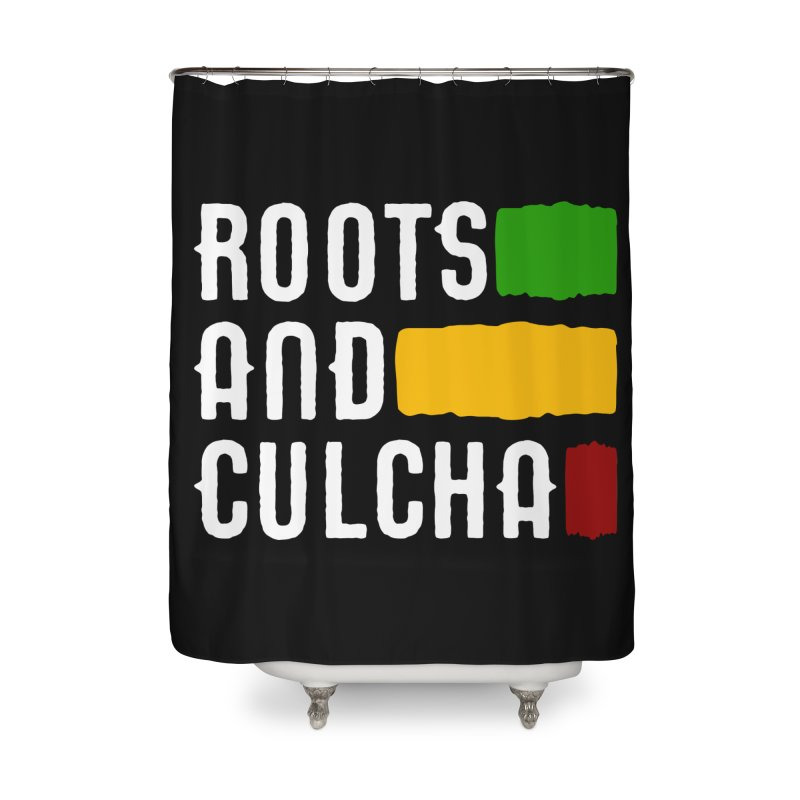 Roots and Culcha (Light) Home Shower Curtain by Rasta University Shop