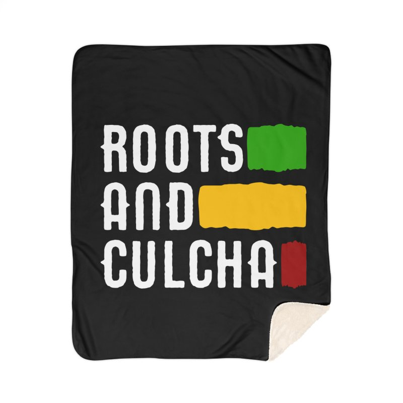Roots and Culcha (Light) Home Sherpa Blanket Blanket by Rasta University Shop