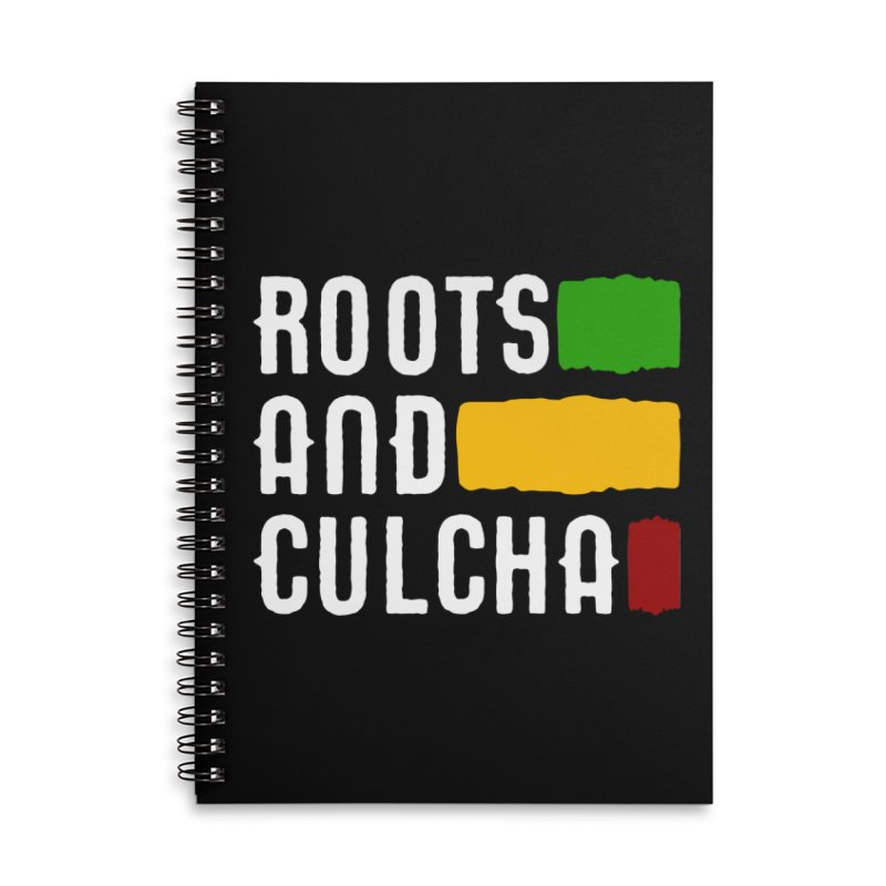 Roots and Culcha (Light) Accessories Lined Spiral Notebook by Rasta University Shop