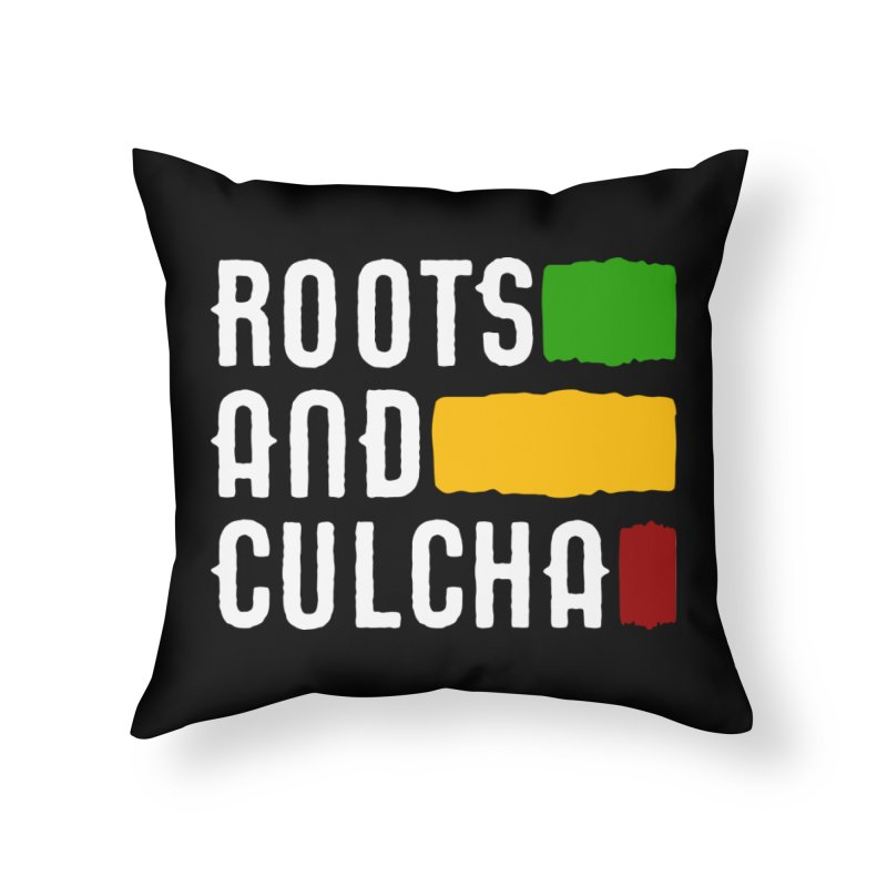 Roots and Culcha (Light) Home Throw Pillow by Rasta University Shop