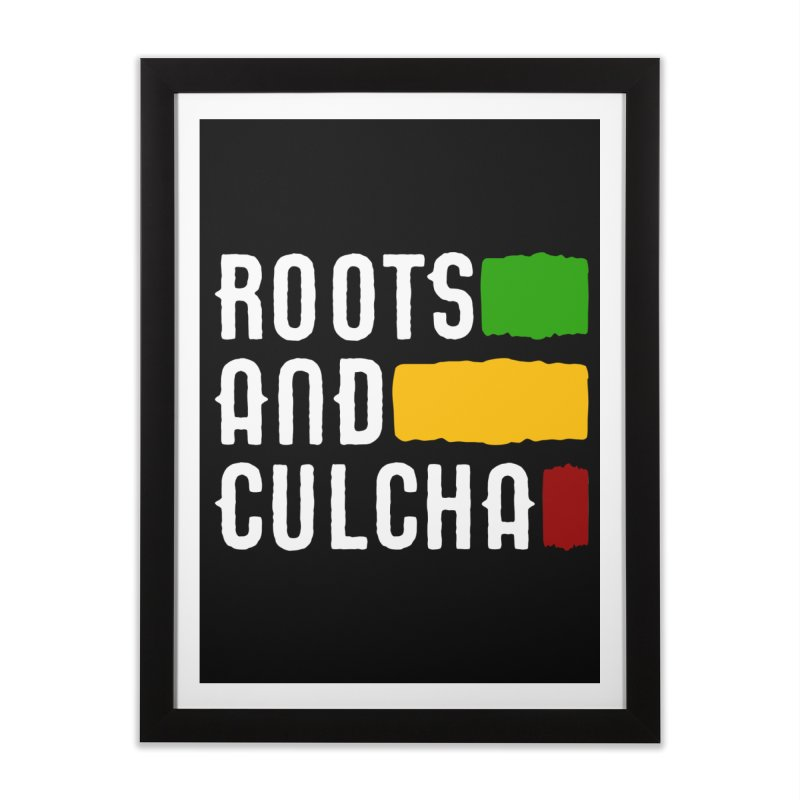 Roots and Culcha (Light) Home Framed Fine Art Print by Rasta University Shop