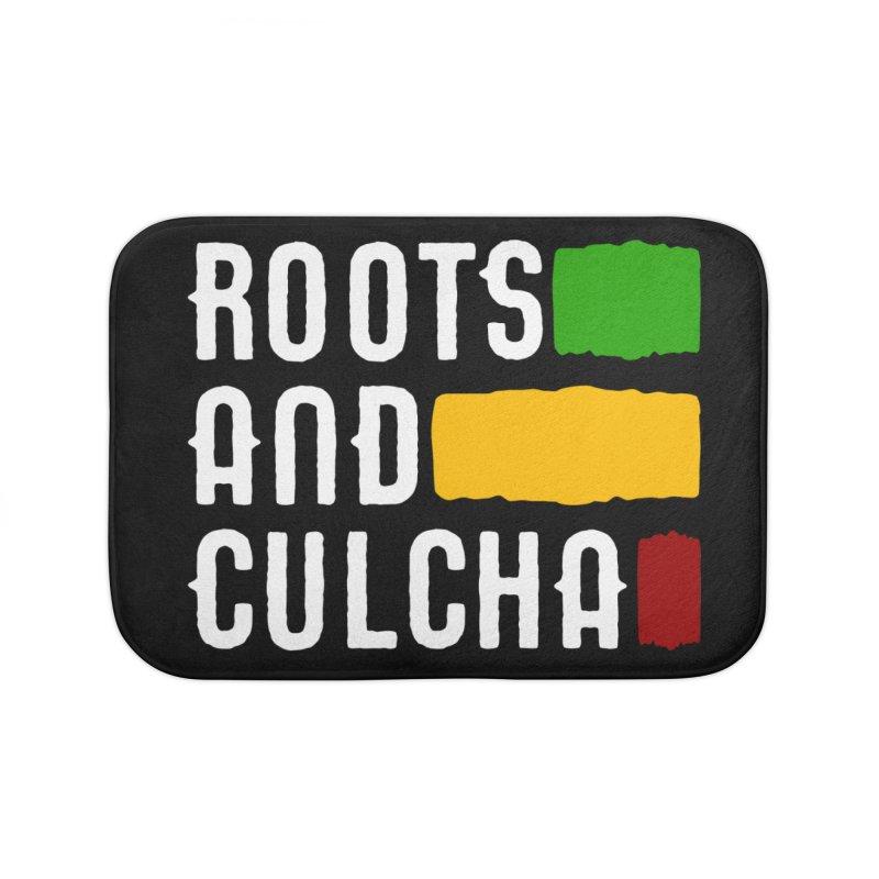 Roots and Culcha (Light) Home Bath Mat by Rasta University Shop