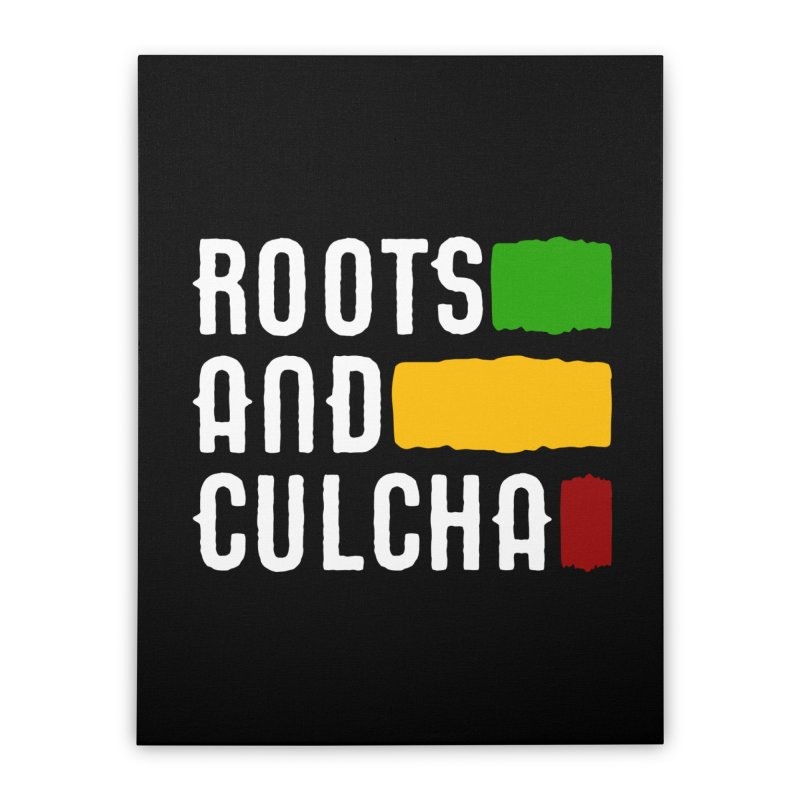 Roots and Culcha (Light) Home Stretched Canvas by Rasta University Shop