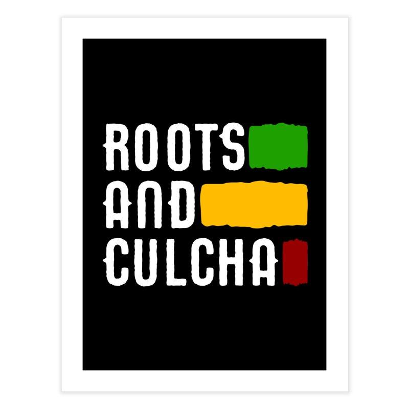Roots and Culcha (Light) Home Fine Art Print by Rasta University Shop
