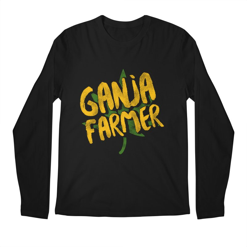 Ganja Farmer Men's Regular Longsleeve T-Shirt by Rasta University Shop