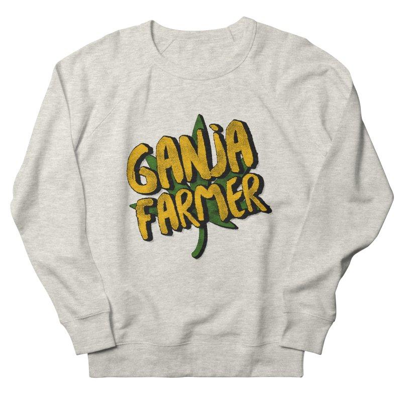 Ganja Farmer Men's French Terry Sweatshirt by Rasta University Shop