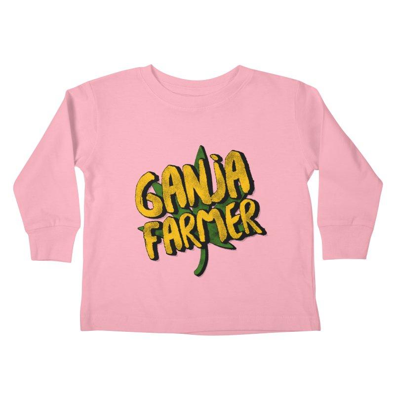 Ganja Farmer Kids Toddler Longsleeve T-Shirt by Rasta University Shop