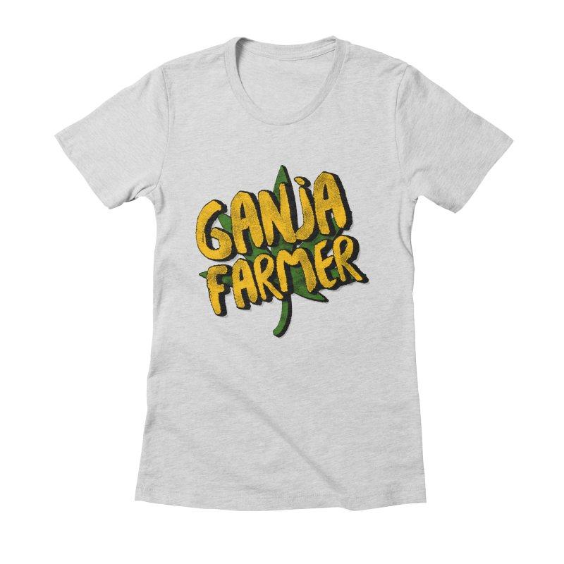 Ganja Farmer Women's Fitted T-Shirt by Rasta University Shop