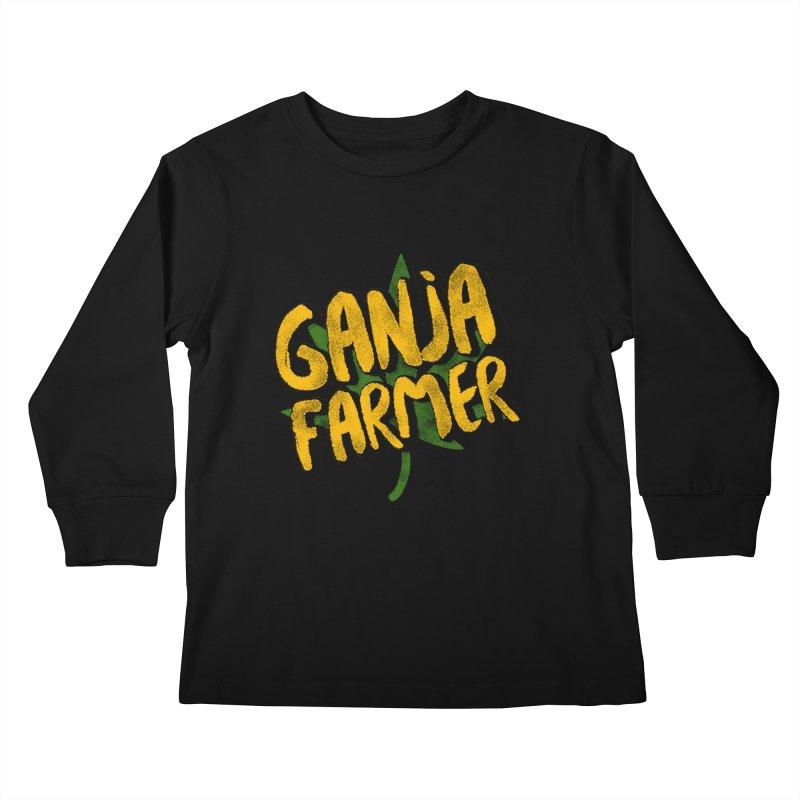 Ganja Farmer Kids Longsleeve T-Shirt by Rasta University Shop
