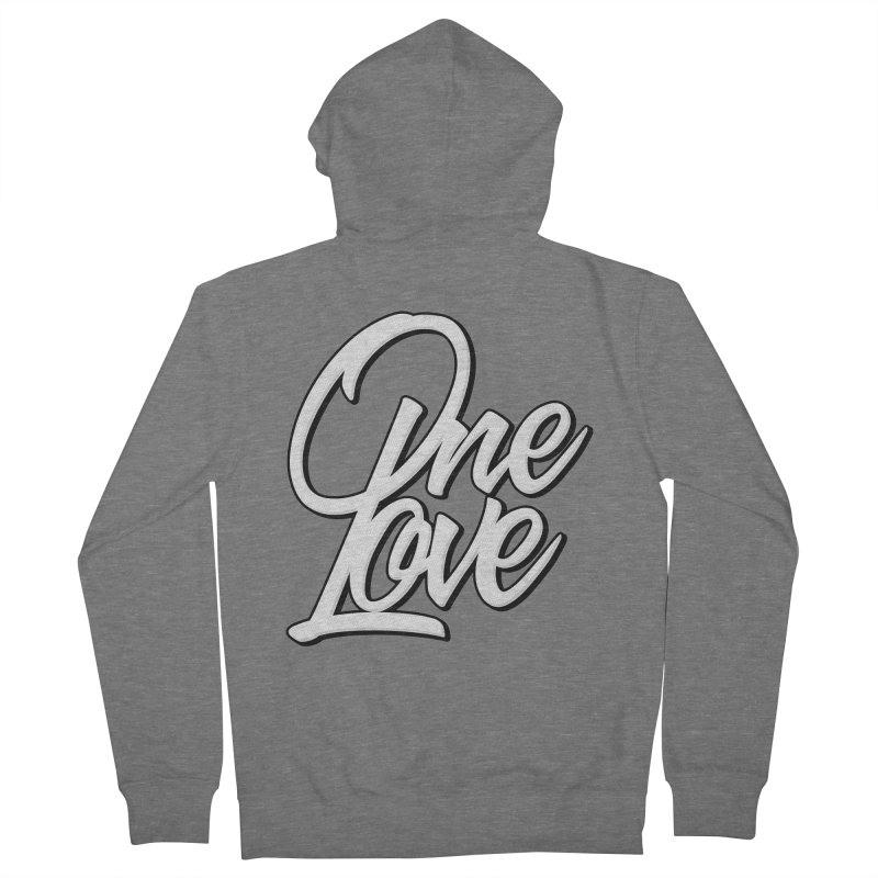 One Love Men's French Terry Zip-Up Hoody by Rasta University Shop