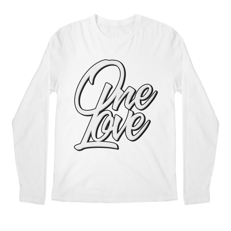 One Love Men's Regular Longsleeve T-Shirt by Rasta University Shop