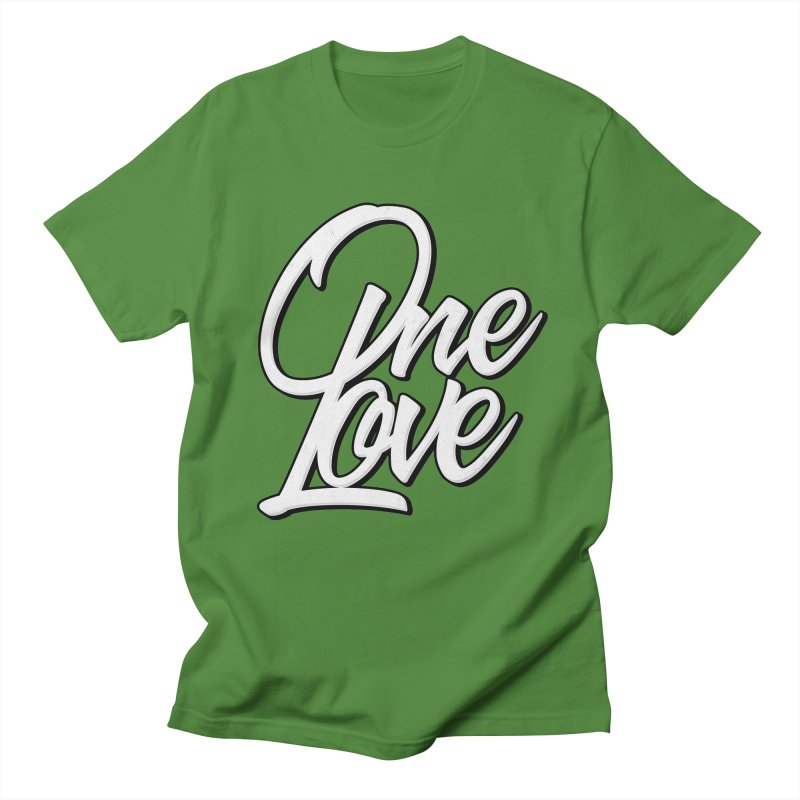 One Love in Men's T-shirt Clover by Rasta University Shop