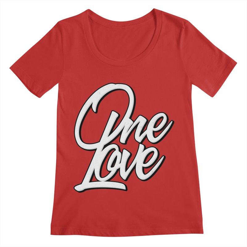One Love Women's Regular Scoop Neck by Rasta University Shop