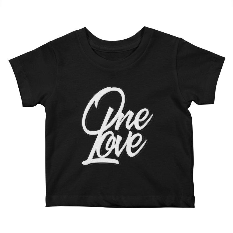 One Love Kids Baby T-Shirt by Rasta University Shop