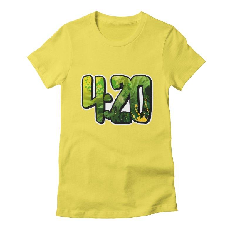4:20 Women's Fitted T-Shirt by Rasta University Shop