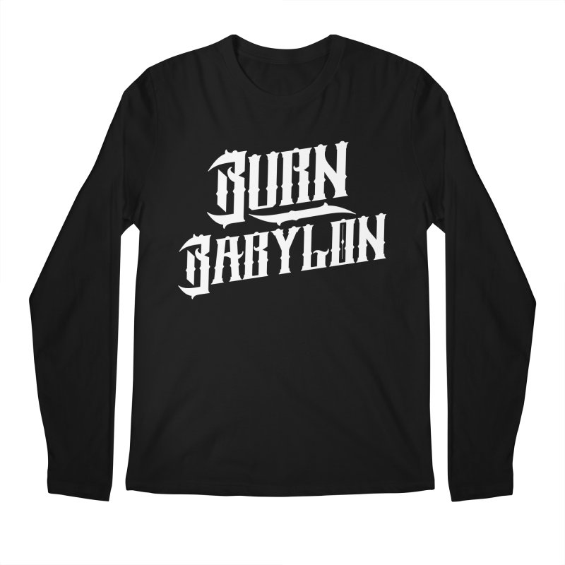 Burn Babylon (Light) Men's Regular Longsleeve T-Shirt by Rasta University Shop