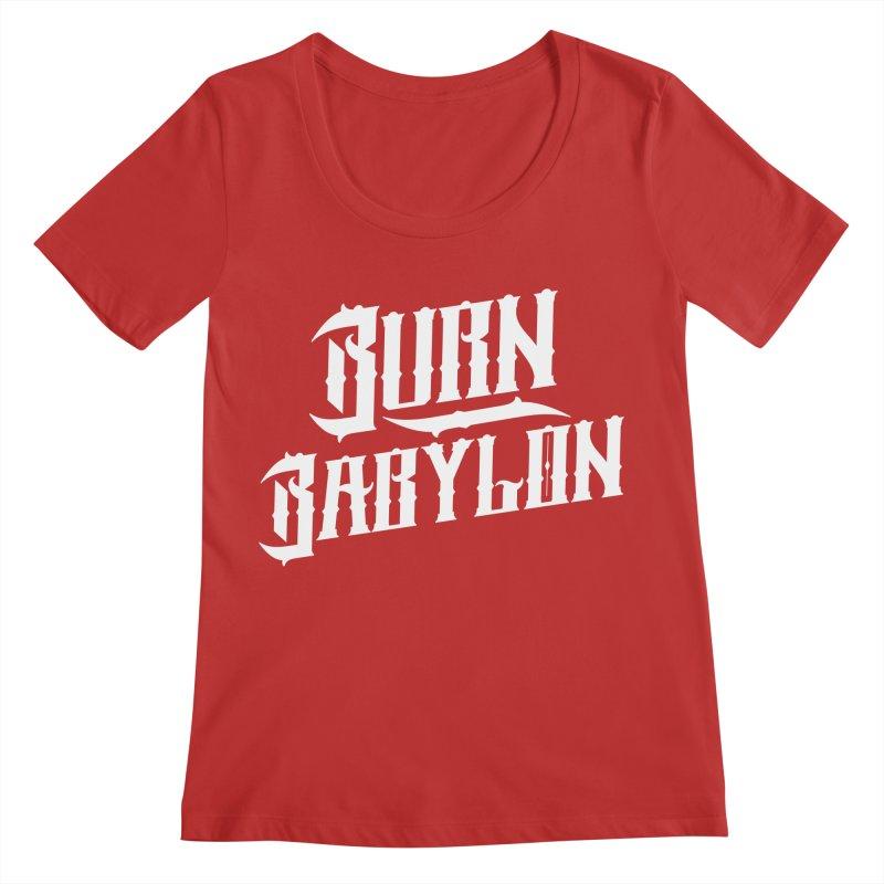 Burn Babylon (Light) Women's Regular Scoop Neck by Rasta University Shop