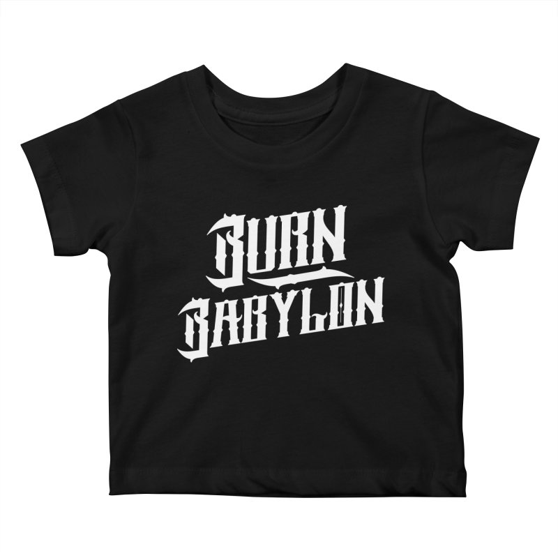 Burn Babylon (Light) Kids Baby T-Shirt by Rasta University Shop