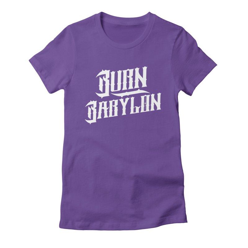 Burn Babylon (Light) Women's Fitted T-Shirt by Rasta University Shop