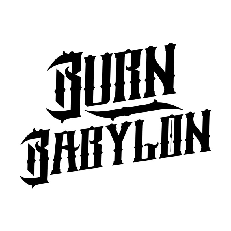 Burn Babylon (Dark) Men's T-Shirt by Rasta University Shop