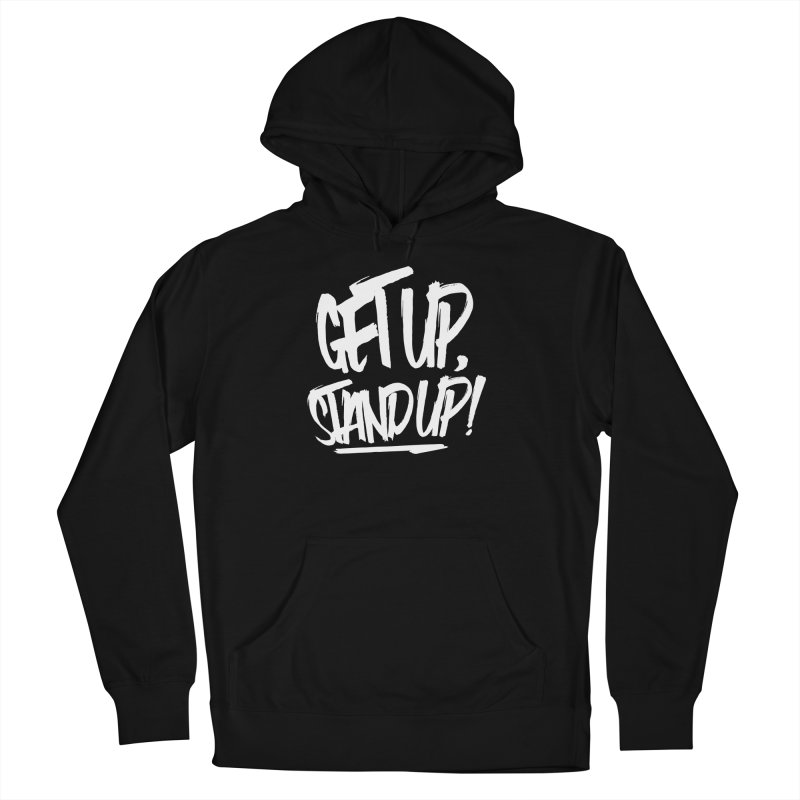 Get Up, Stand Up (Light) Men's French Terry Pullover Hoody by Rasta University Shop
