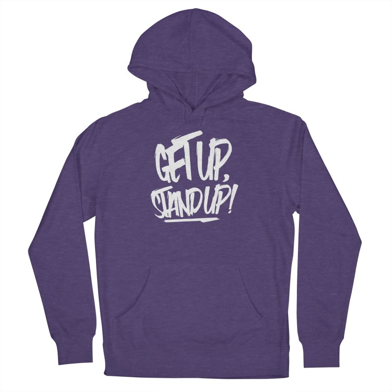 Get Up, Stand Up (Light) Women's French Terry Pullover Hoody by Rasta University Shop