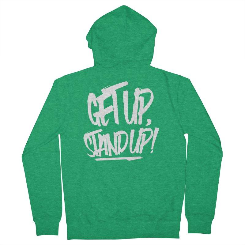 Get Up, Stand Up (Light) Women's Zip-Up Hoody by Rasta University Shop