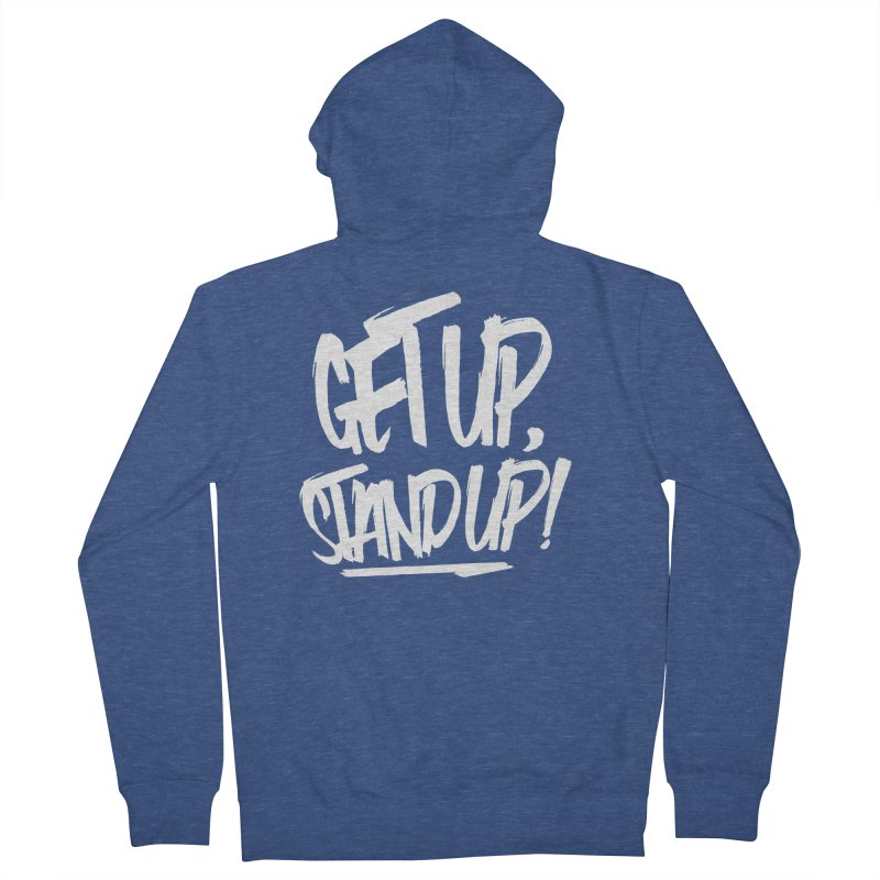 Get Up, Stand Up (Light) Women's French Terry Zip-Up Hoody by Rasta University Shop