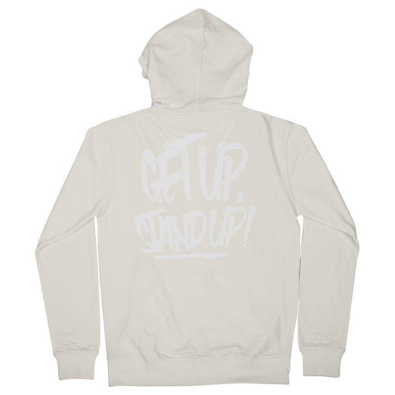 Get Up, Stand Up (Light) Women's Zip-Up Hoody by Rasta University Shop