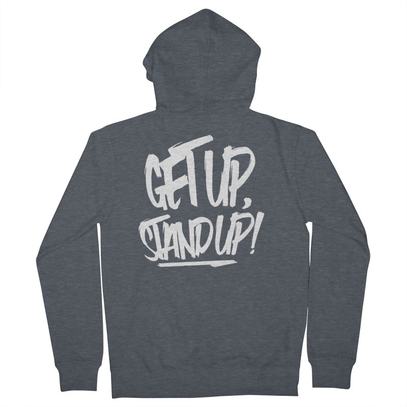 Get Up, Stand Up (Light) Men's French Terry Zip-Up Hoody by Rasta University Shop