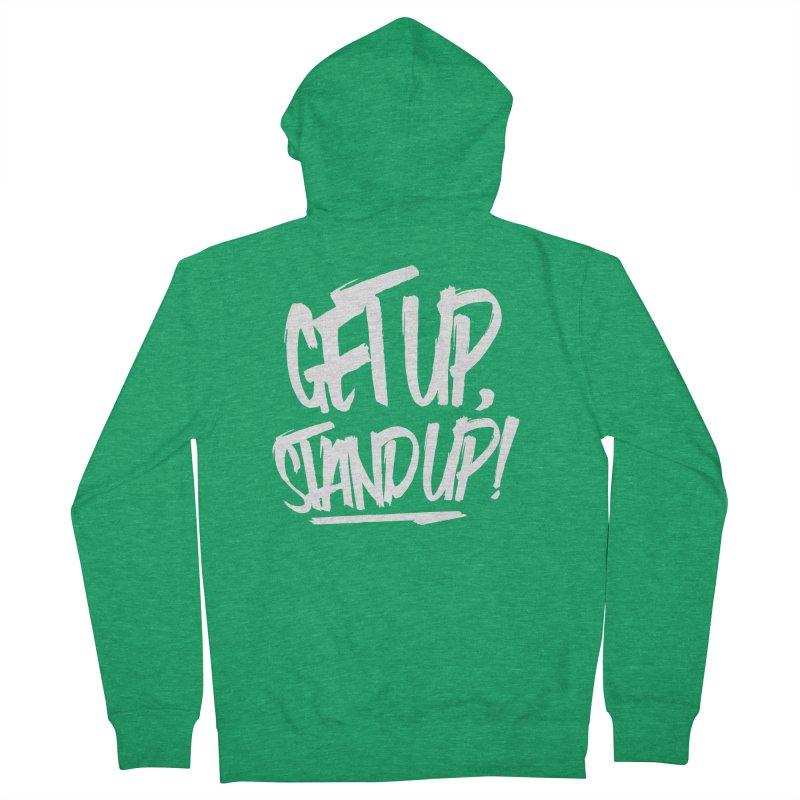 Get Up, Stand Up (Light) Men's Zip-Up Hoody by Rasta University Shop