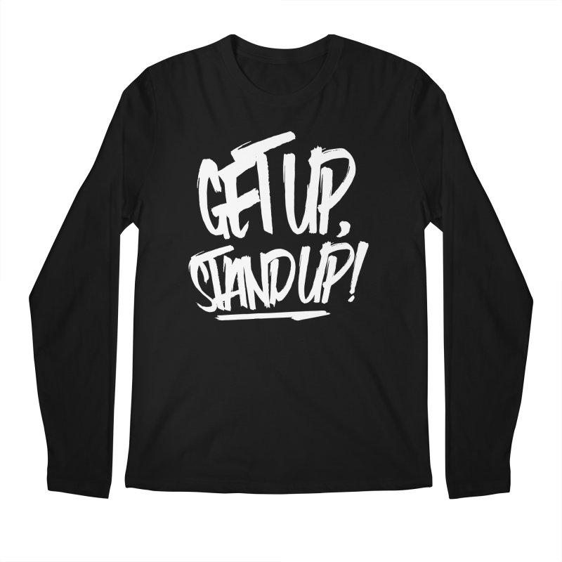 Get Up, Stand Up (Light) Men's Regular Longsleeve T-Shirt by Rasta University Shop