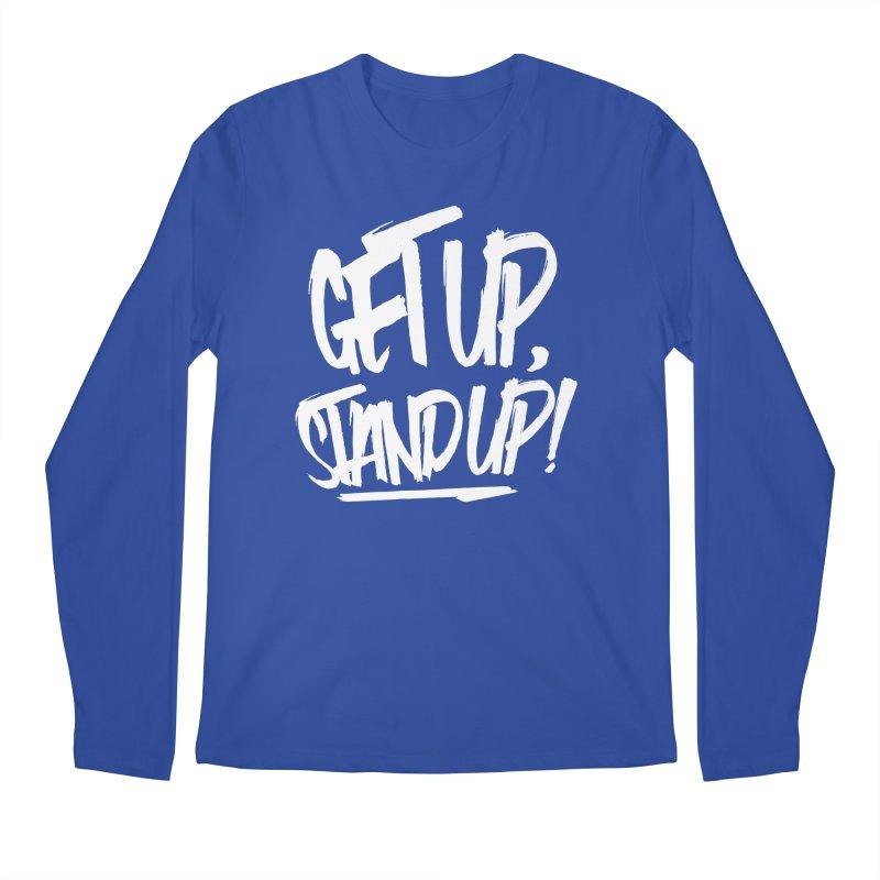 Get Up, Stand Up (Light) Men's Longsleeve T-Shirt by Rasta University Shop