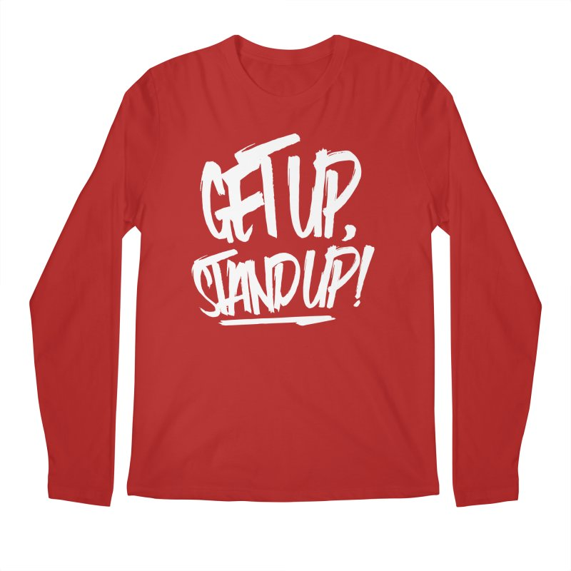 Get Up, Stand Up (Light) Men's Longsleeve T-Shirt by Rasta University Shop