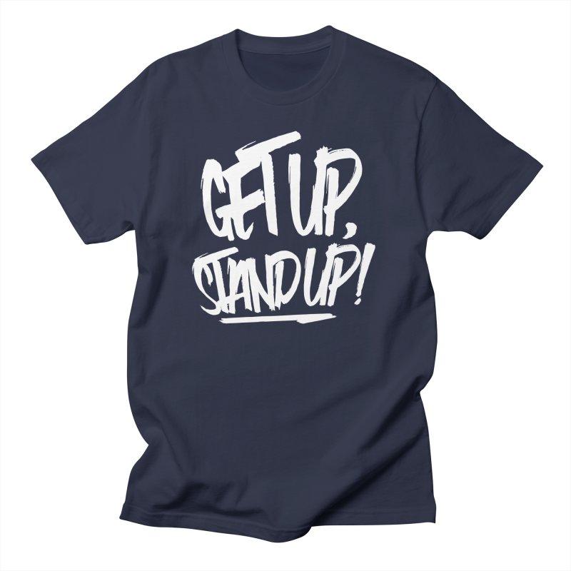 Get Up, Stand Up (Light) Men's Regular T-Shirt by Rasta University Shop