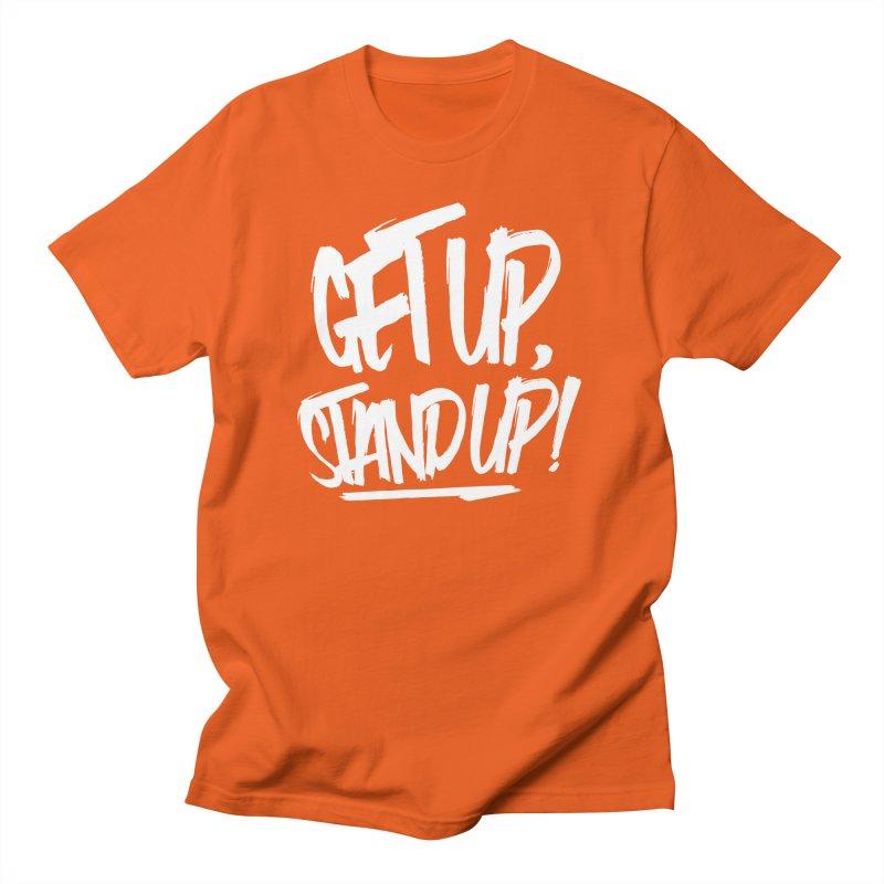 Get Up, Stand Up (Light) Men's T-Shirt by Rasta University Shop