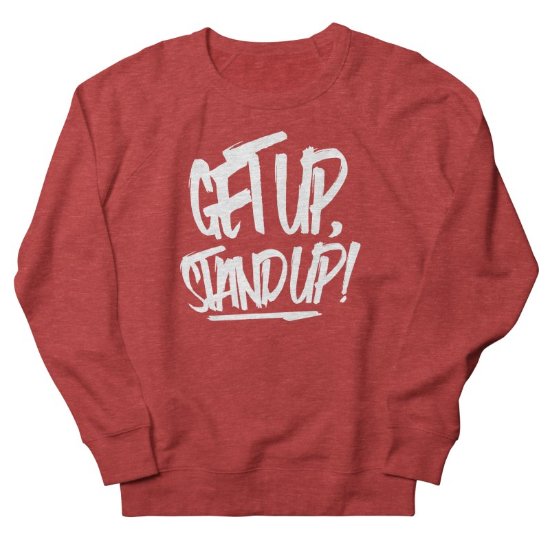 Get Up, Stand Up (Light) Men's French Terry Sweatshirt by Rasta University Shop