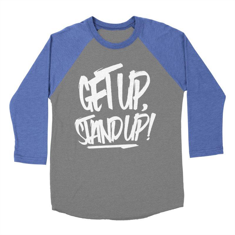 Get Up, Stand Up (Light) Women's Baseball Triblend Longsleeve T-Shirt by Rasta University Shop
