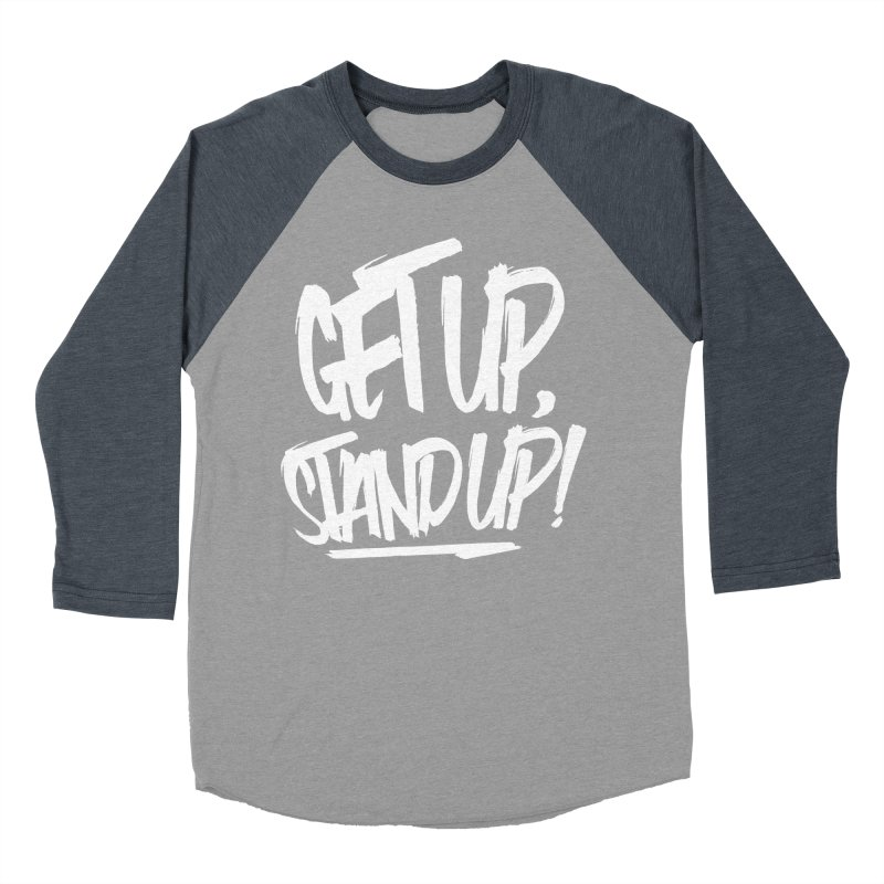 Get Up, Stand Up (Light) Men's Baseball Triblend Longsleeve T-Shirt by Rasta University Shop