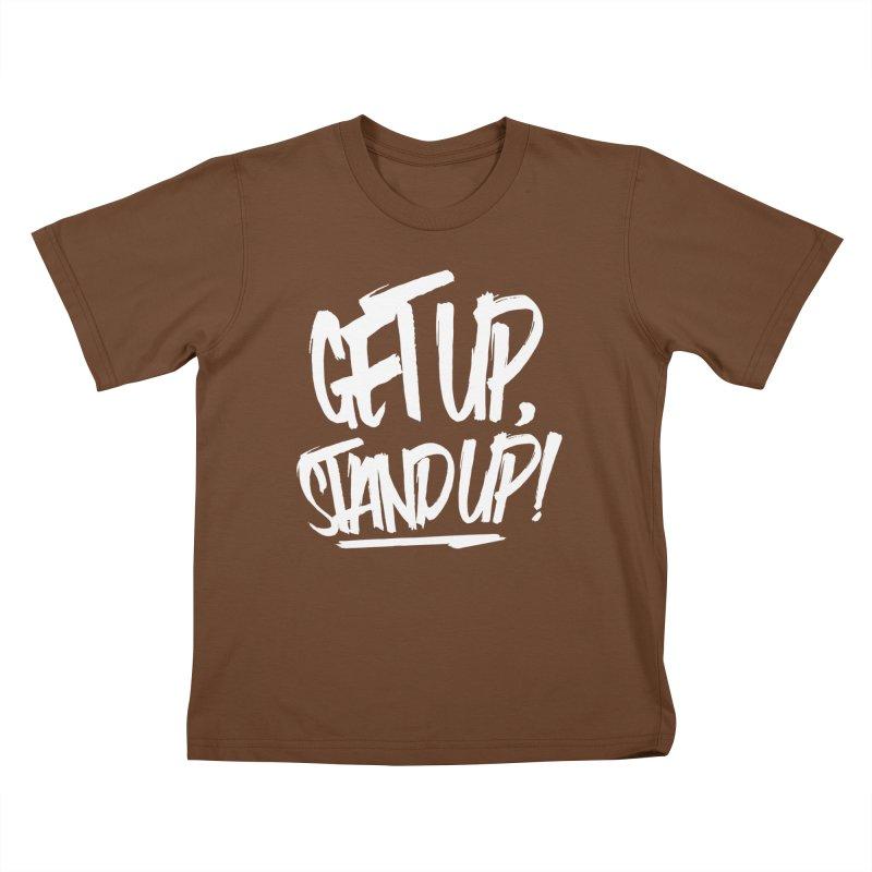 Get Up, Stand Up (Light) Kids T-Shirt by Rasta University Shop