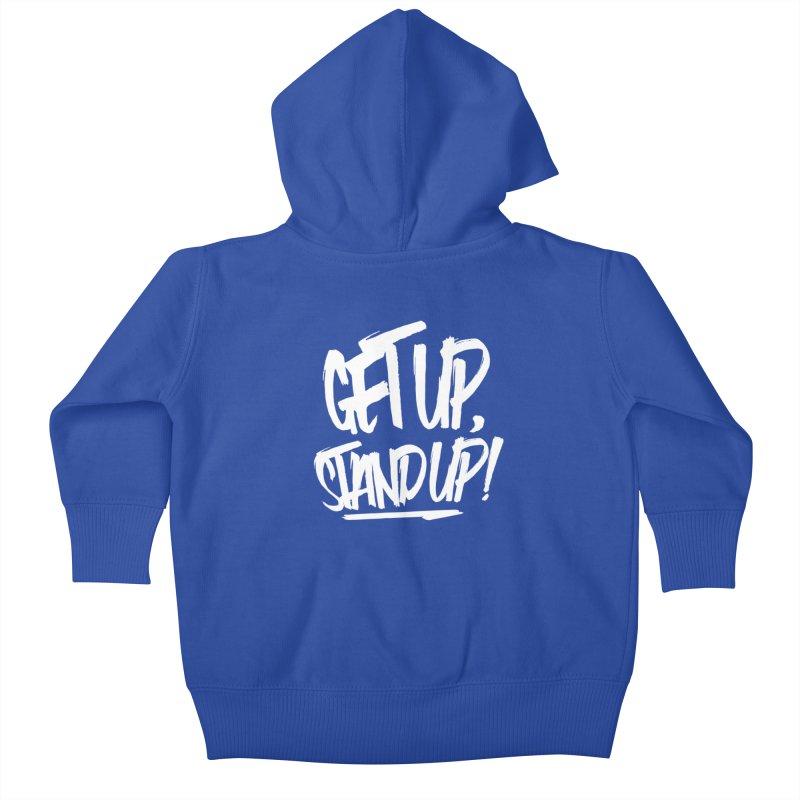 Get Up, Stand Up (Light) Kids Baby Zip-Up Hoody by Rasta University Shop