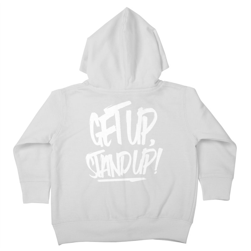 Get Up, Stand Up (Light) Kids Toddler Zip-Up Hoody by Rasta University Shop