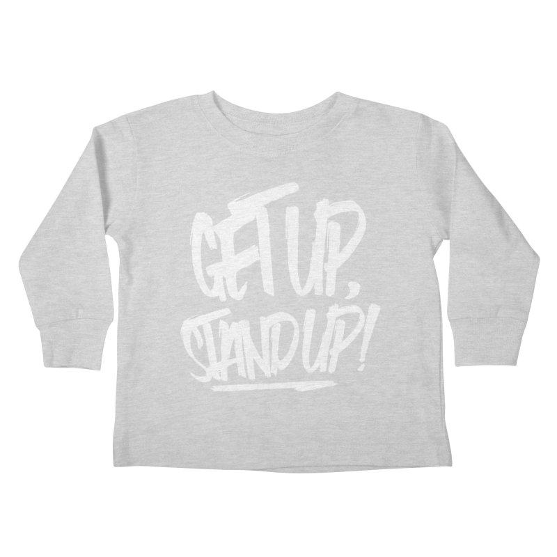Get Up, Stand Up (Light) Kids Toddler Longsleeve T-Shirt by Rasta University Shop