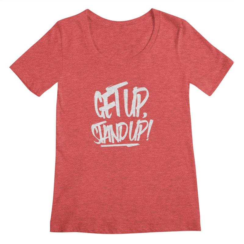 Get Up, Stand Up (Light) Women's Scoopneck by Rasta University Shop