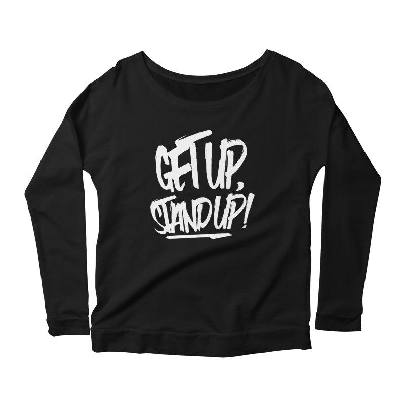 Get Up, Stand Up (Light) Women's Scoop Neck Longsleeve T-Shirt by Rasta University Shop