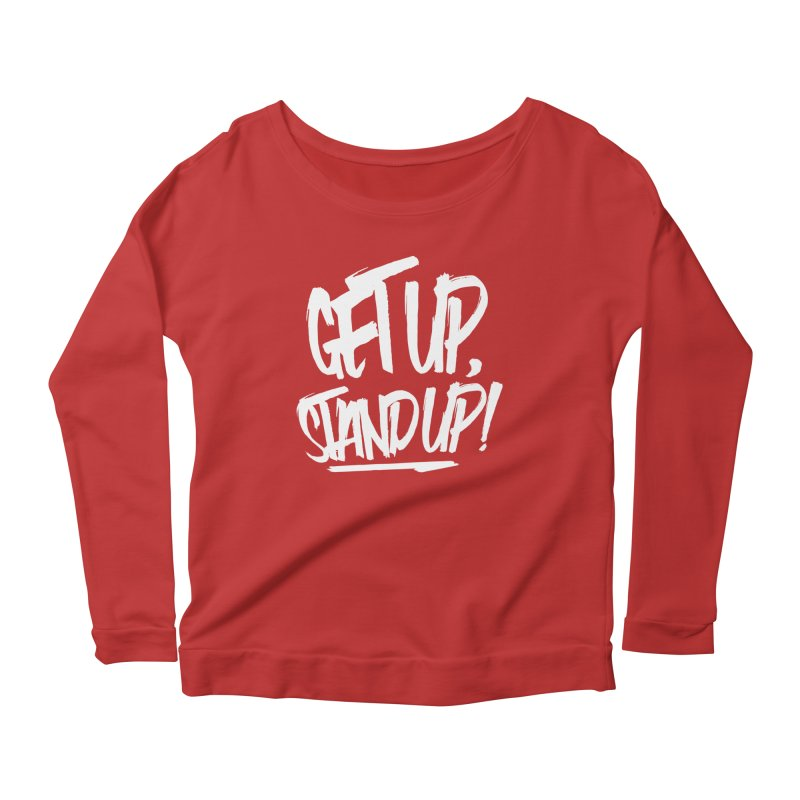 Get Up, Stand Up (Light) Women's Longsleeve Scoopneck  by Rasta University Shop